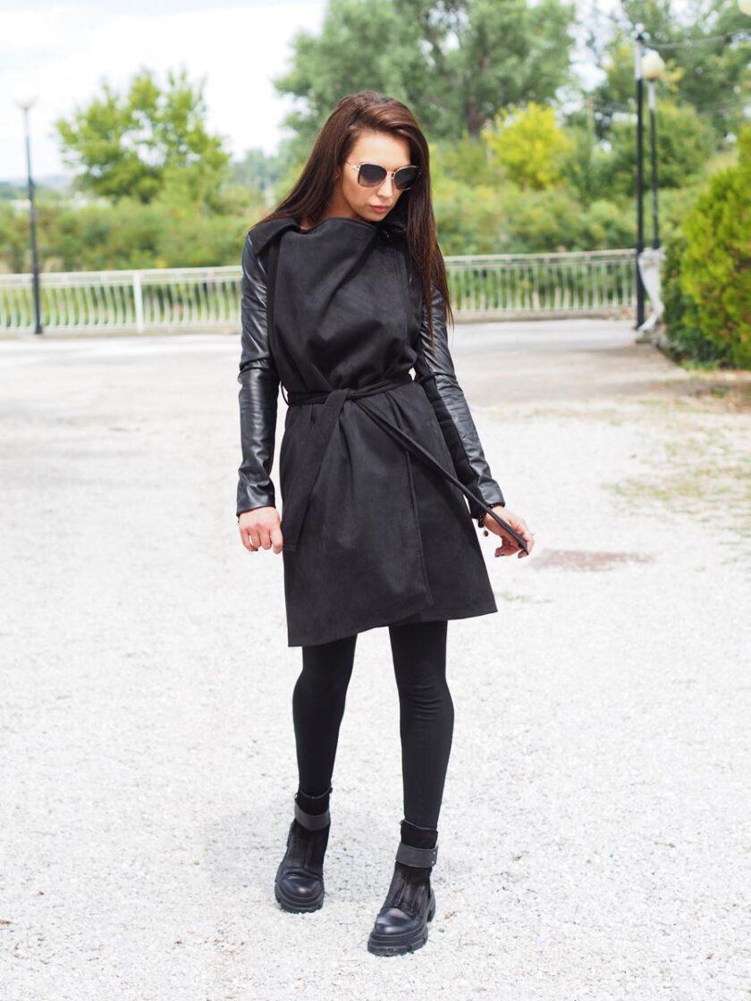 дълго дамско палто