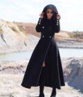 дизайнерско дълго палто,дълго кашмирено палто
